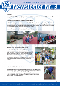 TSC Newsletter Nr. 3 vom 10. Juli 2016